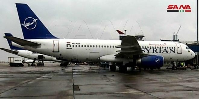 بعد انقطاع 8 سنوات.. وصول أول طائرة مدنية إلى مطار حلب