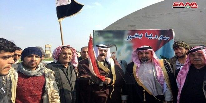 عشائر الحسكة السورية تدعو إلى مقاومة الاحتلال الأميركي