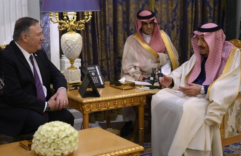 بومبيو محرّضاً من السعودية: هناك حاجة للوقوف مع المملكة في مواجهة إيران