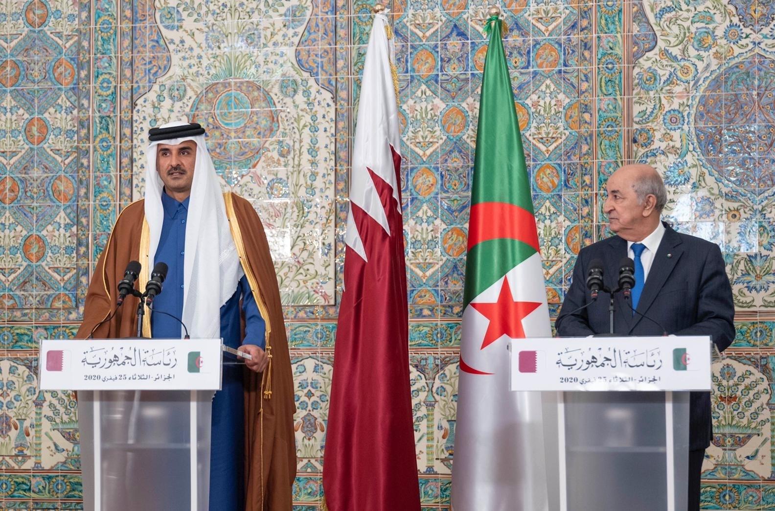 """""""توافق تام"""" حول مختلف القضايا... أمير قطر يزور الجزائر"""