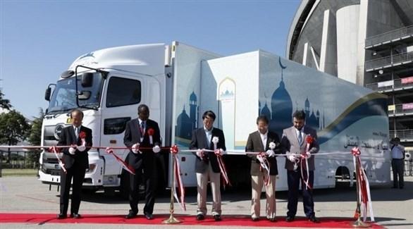 مسجد متنقل لمساعدة المسلمين على الصلاة خلال الألعاب الأولمبية 2020