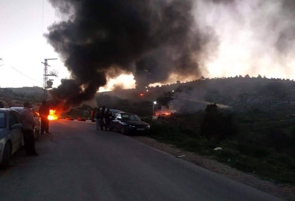 استشهاد طفل في مواجهات عنيفة مع الاحتلال في جبل عرمة في نابلس