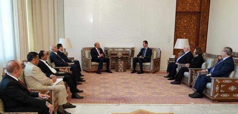 الأسد يستقبل وفداً ليبياً في دمشق