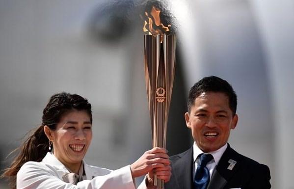الشعلة الأولمبية في اليابان