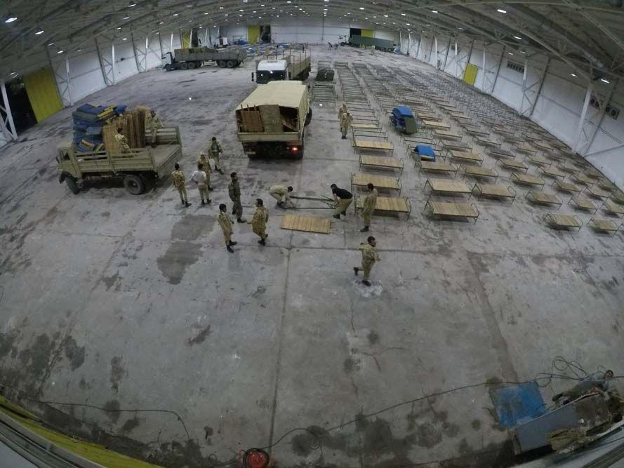 الجيش الإيراني يستعد لتحويل أرض المعارض الدولية لمستشفي ميداني