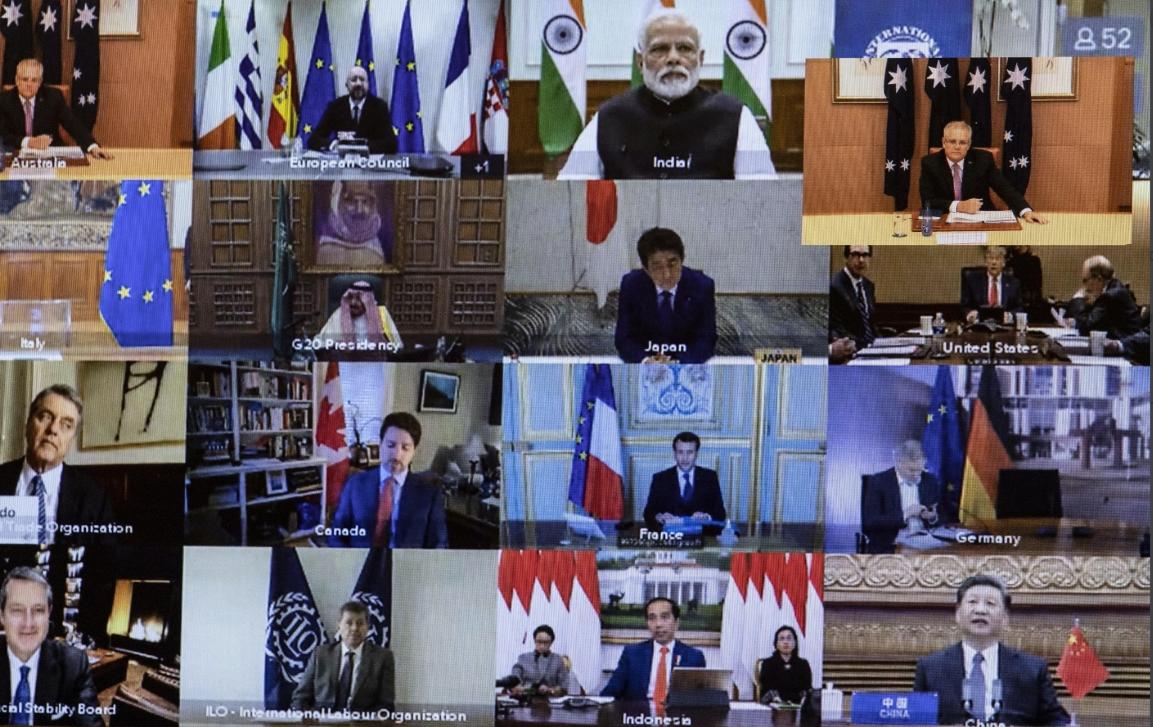 قمة العشرين عبر الفيديو: توسيع إنتاج المواد الطبية وصندوق للاقتراض من دون فوائد