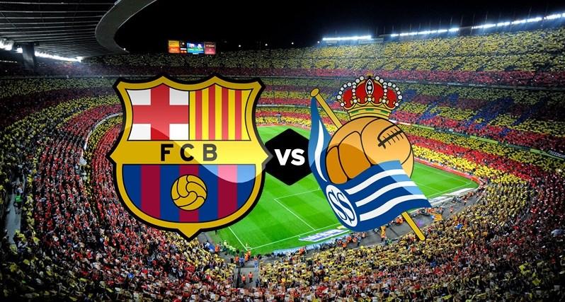 """برشلونة أمام اختبار ريال سوسيداد في """"الليغا"""""""