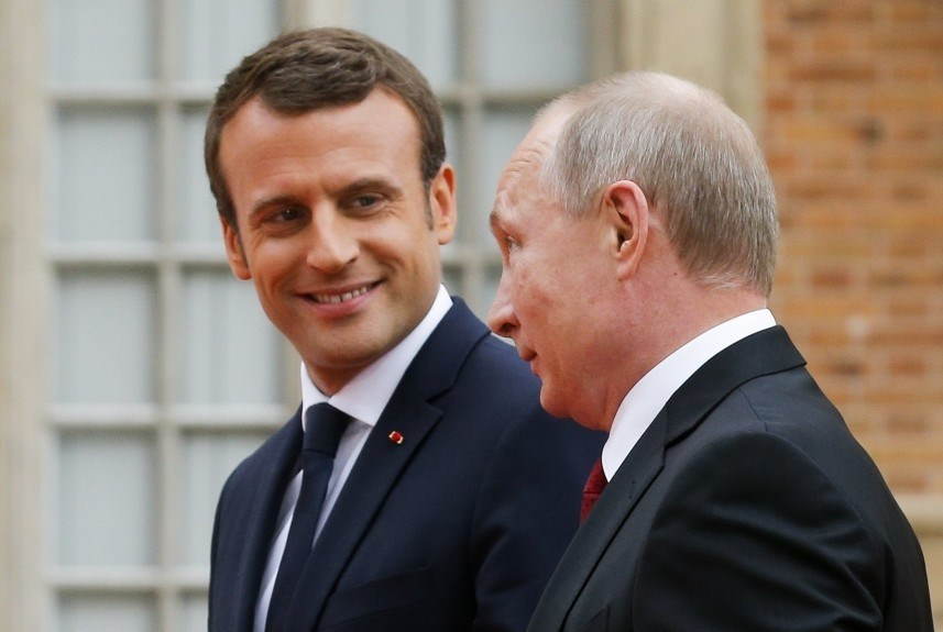 على ماذا شكر ماكرون نظيره الروسي؟