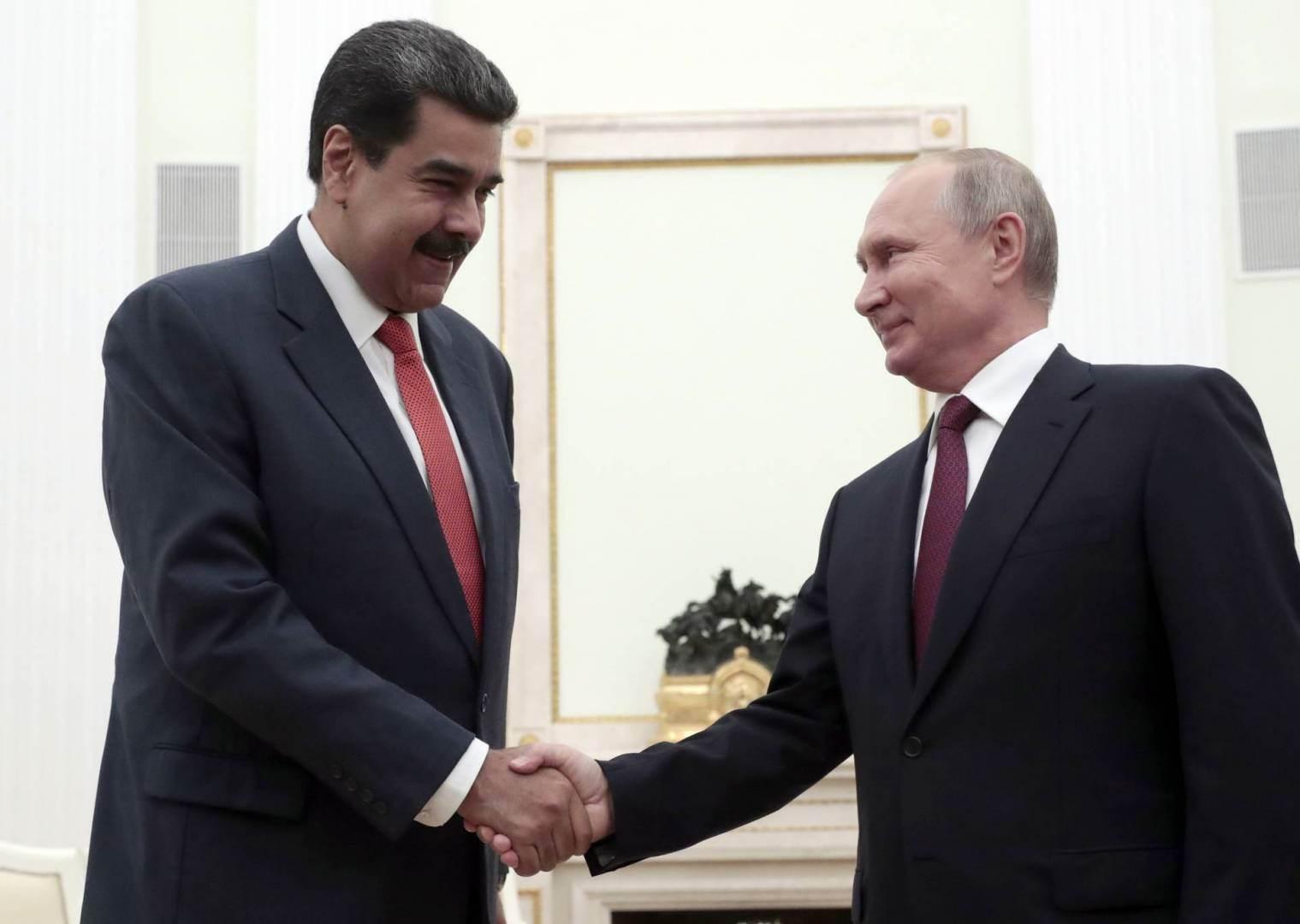 مادورو يشكر بوتين على تقديم الدعم في مكافحة كورونا ويؤكدان التعاون الاقتصادي