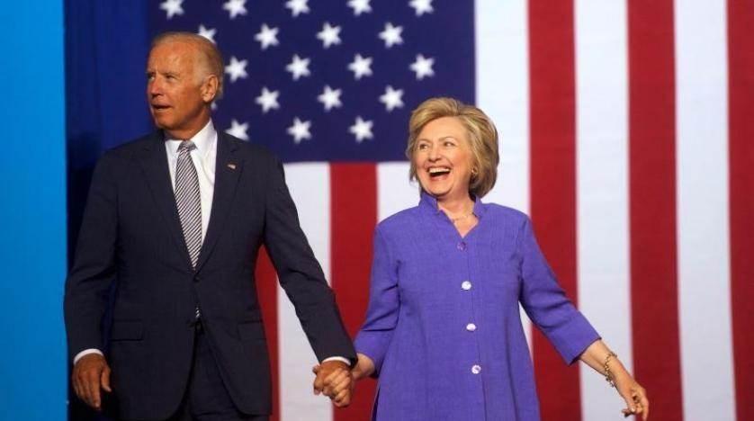 كلينتون تدعم حملة بايدن الرئاسية