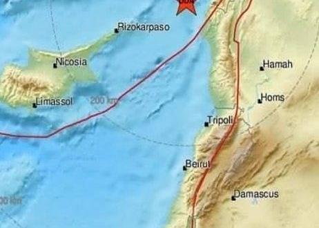 هزة أرضية متوسطة تضرب الساحل السوري