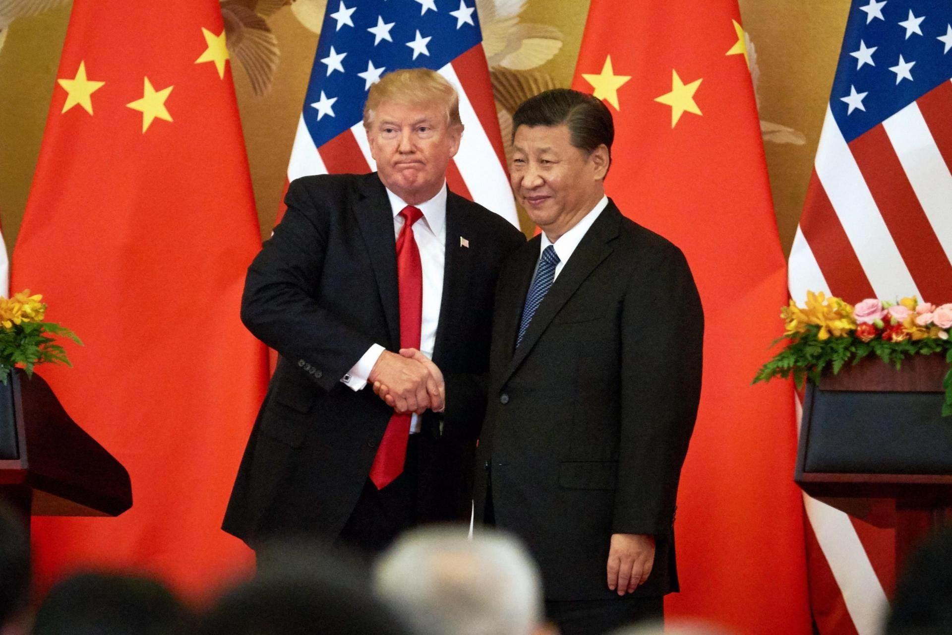 الرئيس الصيني شي جينبينغ ونظيره الأميركي دونالد ترامب (أرشيف)