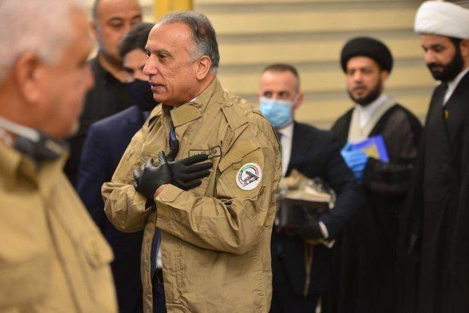 """الكاظمي من مقرّ """"الحشد"""": مقبلون على صولة نهائية لاجتثاث داعش"""