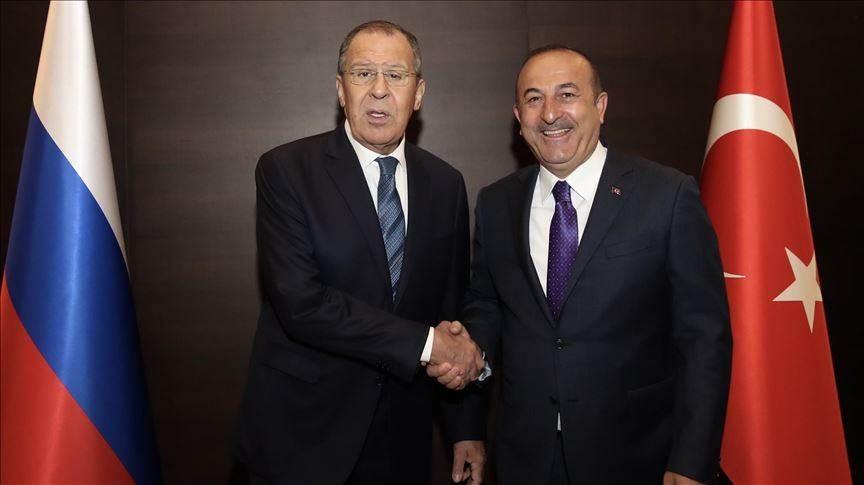 لافروف وأوغلو يناقشان ملفي سوريا وليبيا وأزمة كورونا