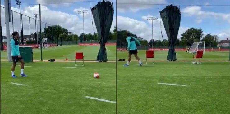 """فان دايك يسجّل """"الهدف المستحيل""""! (فيديو)"""