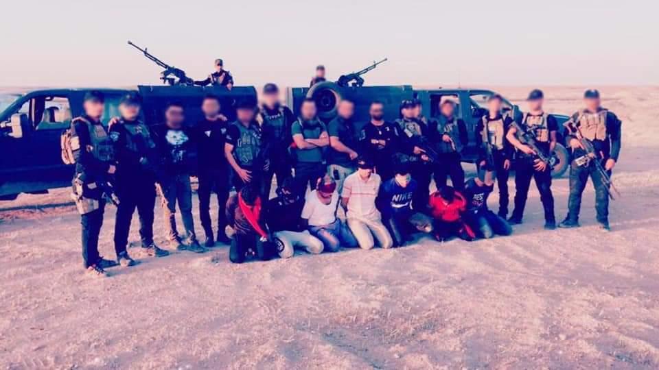 القبض على أفراد من داعش في محافظة الأنبار العراقية