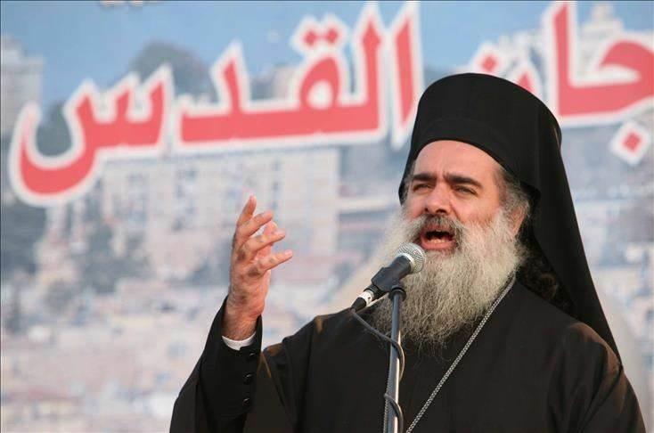 المطران عطا الله حنا: عدالة القضية الفلسطينية لن تهزها مسلسلات سخيفة
