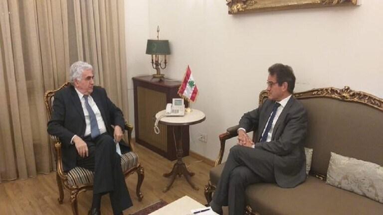 وزير الخارجية اللبناني للسفير الألماني: حزب الله مكوّن سياسي أساسي