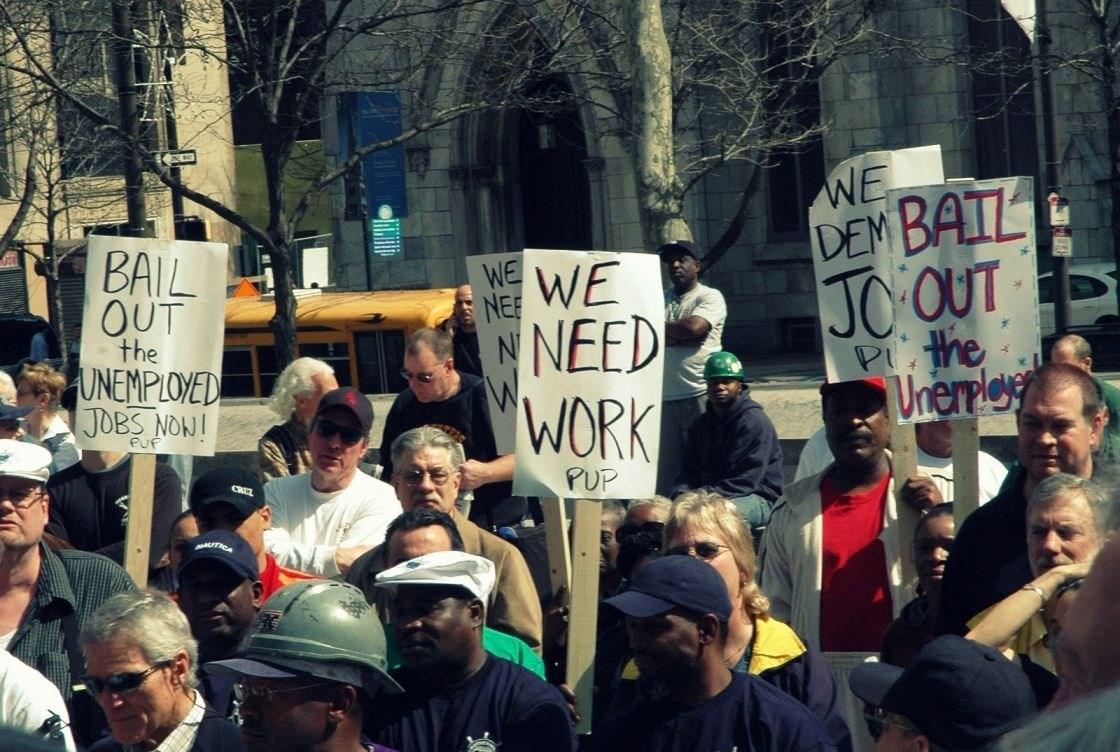 ارتفاع تاريخي بنسبة البطالة في الولايات المتحدة