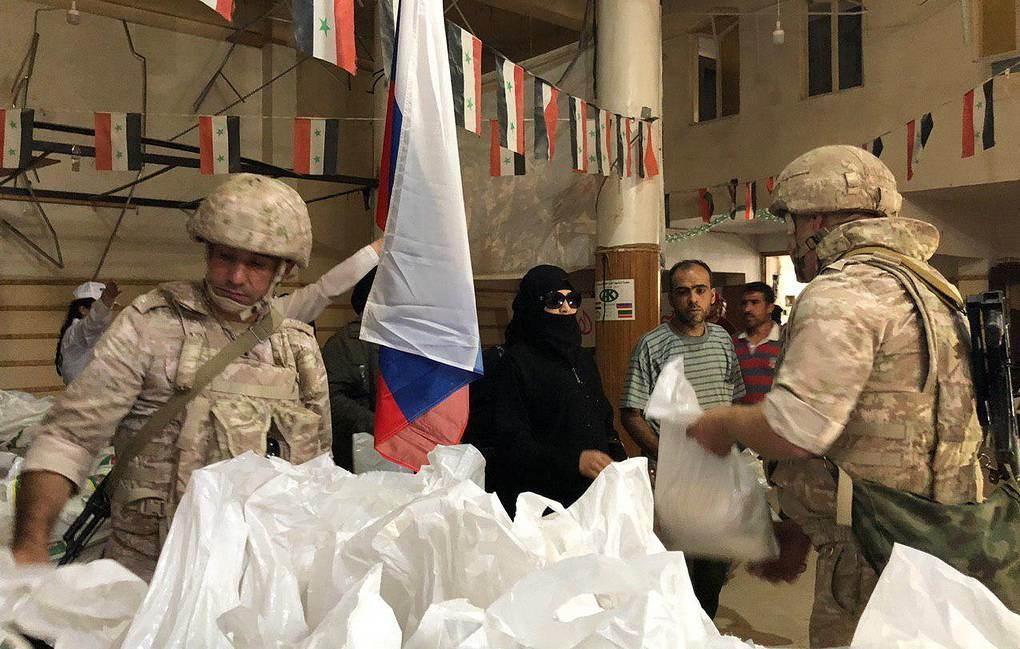 روسيا تقدم 846 طناً من المساعدات الإنسانية إلى سوريا