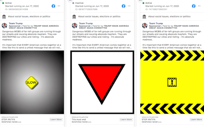 """""""فيسبوك"""" يسحب إعلانات نشرتها الحملة الانتخابية لترامب"""