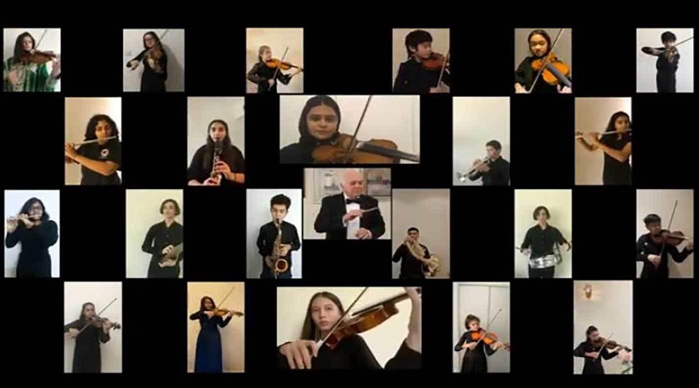 عزف أوركسترالي إماراتي - كوري جنوبي.. افتراضياً