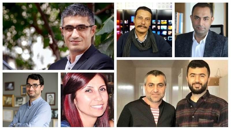 صورة للصحفيين الأتراك السبعة من وسائل الاعلام التركيّة