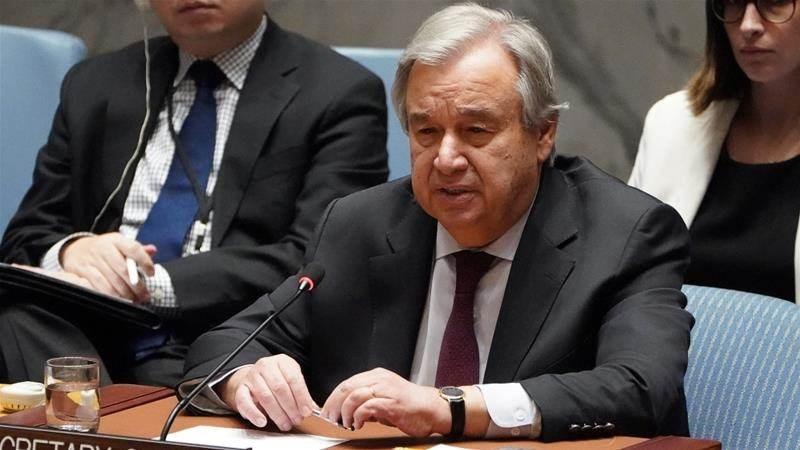 غوتيريش: الخطوة الإسرائيلية في حال تنفيذها ستكون مخالفة لكل القوانين الدولية.