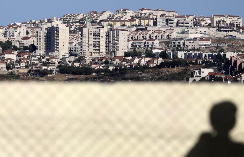 صورة مأخوذة من قرية قيرة الفلسطينية جنوب نابلس (أ ف ب).