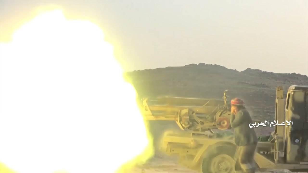 معارك عنيفة بين قوات صنعاء وقوات هادي المسنودة بطائرات التحالف في جبهات مديريات مجزر وصرواح ومَدغِل الجِدْعان في مأرب