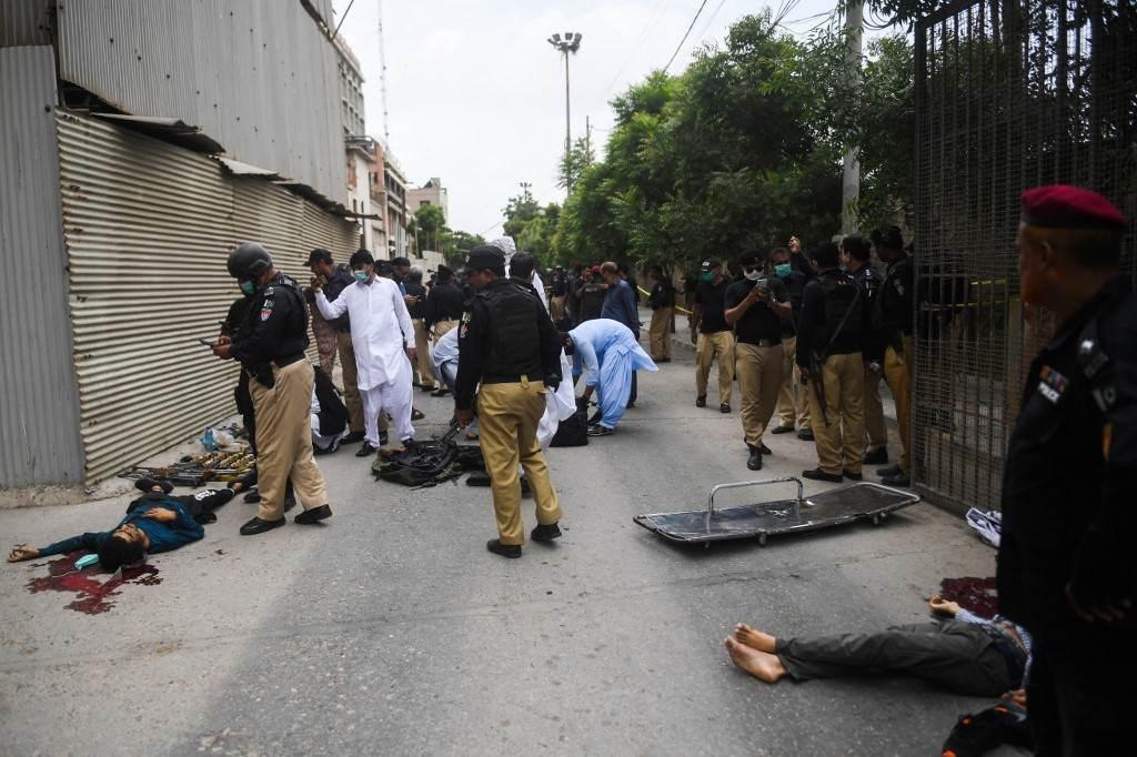 الشرطة الباكستانية: العناصر الأمنية قامت بصد الهجوم وتم تصفية 4 مسلحين