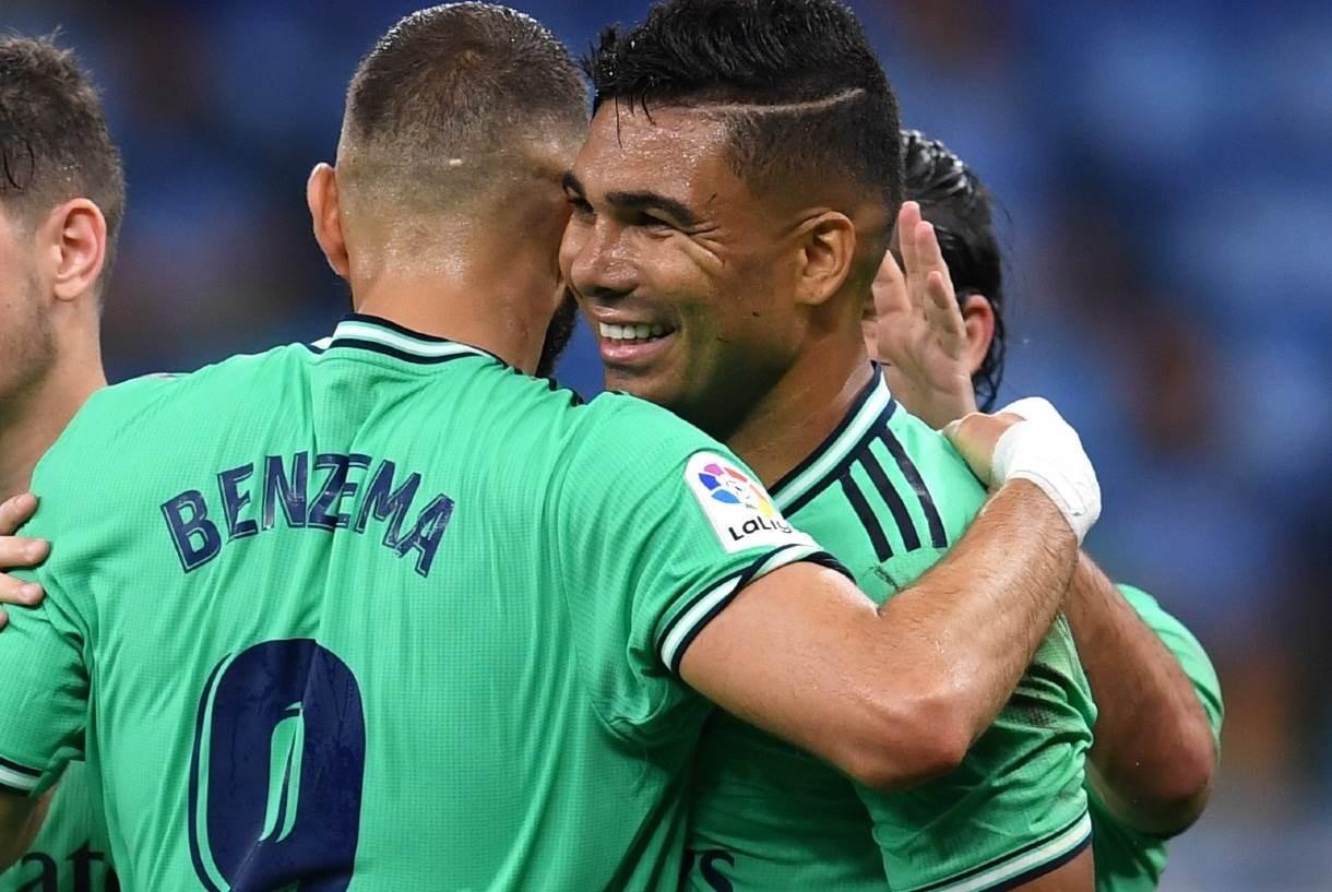 سجّل كاسيميرو هدف الفوز أمام إسبانيول بعد تمريرة مدهشة من بنزيما