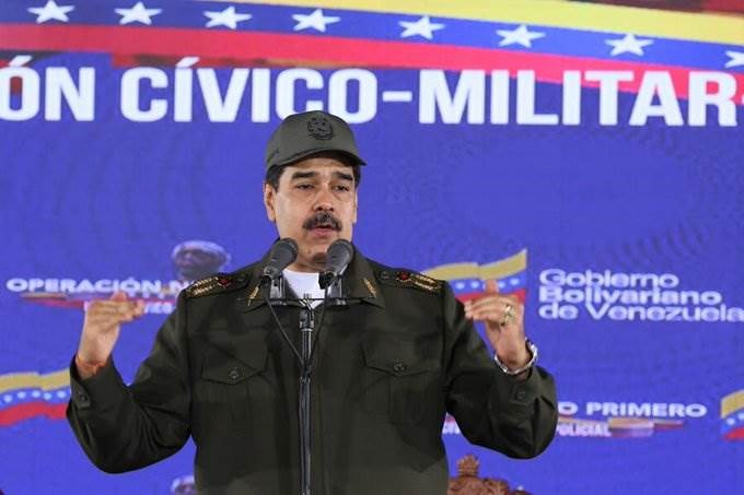 مادورو يعلن تضامن بلاده مع الشعب الأميركي المنتفض