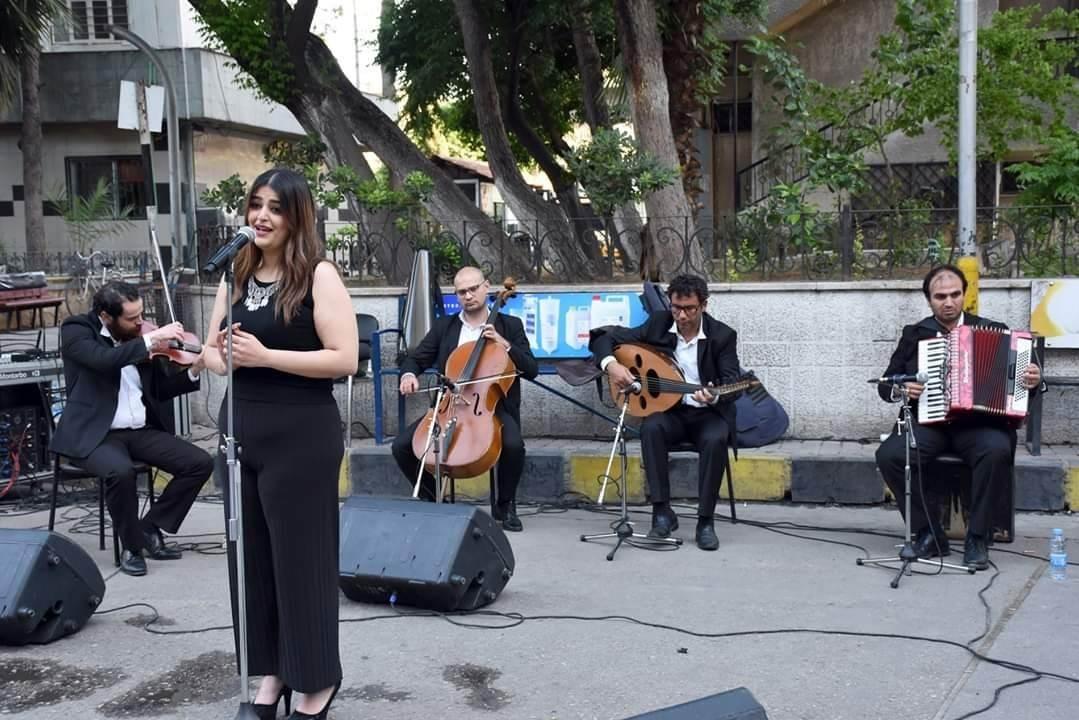 تحية موسيقية إلى كادر مشفى دمشق