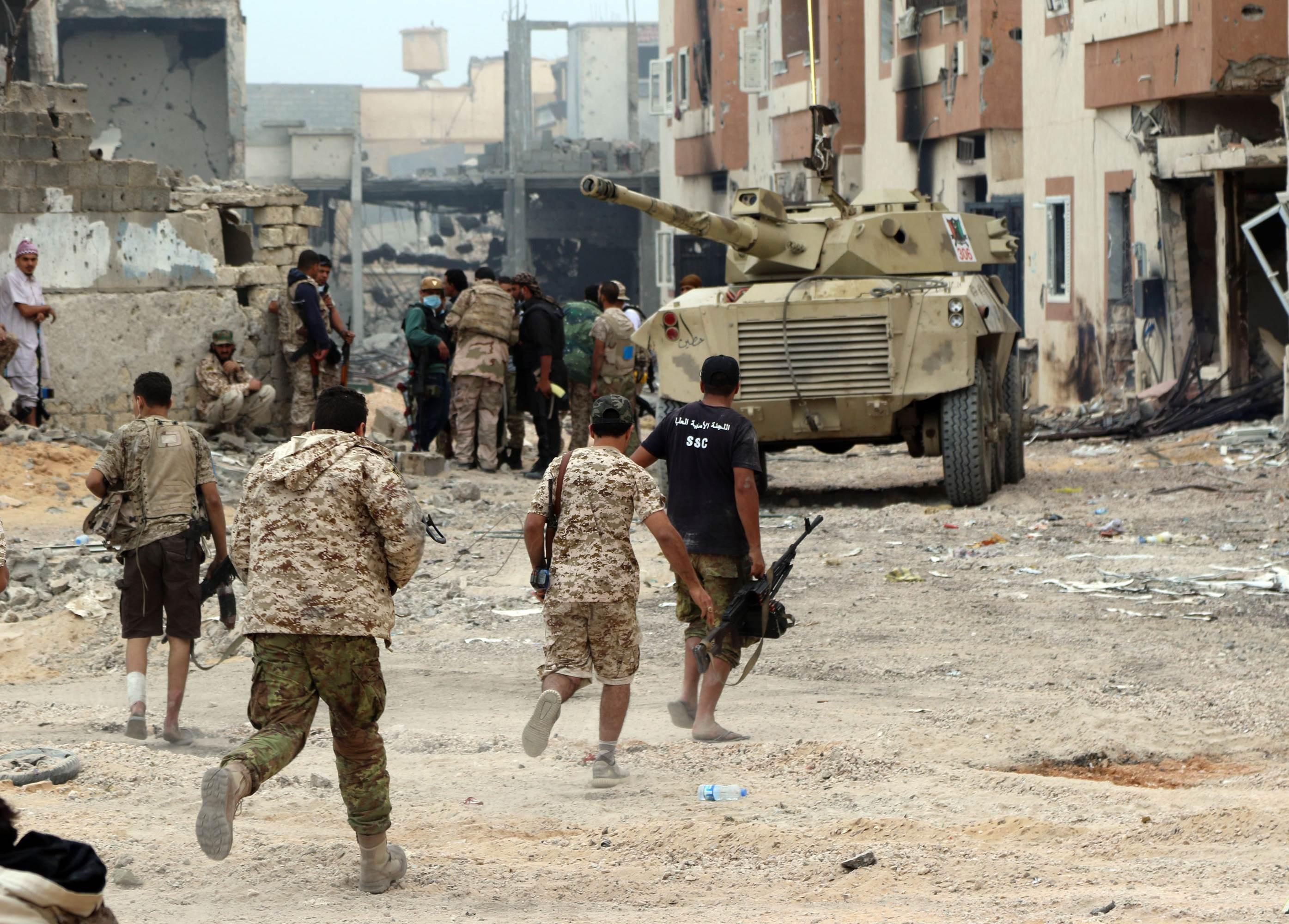 """""""الوفاق"""" تسيطر على مدينة ترهونة أحد المعاقل الرئيسة لقوات حفتر"""