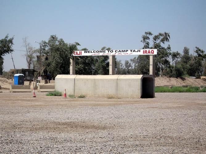 إصابة 4 جنود أميركيين خلال تحطم طائرة بقاعدة التاجي شمال بغداد