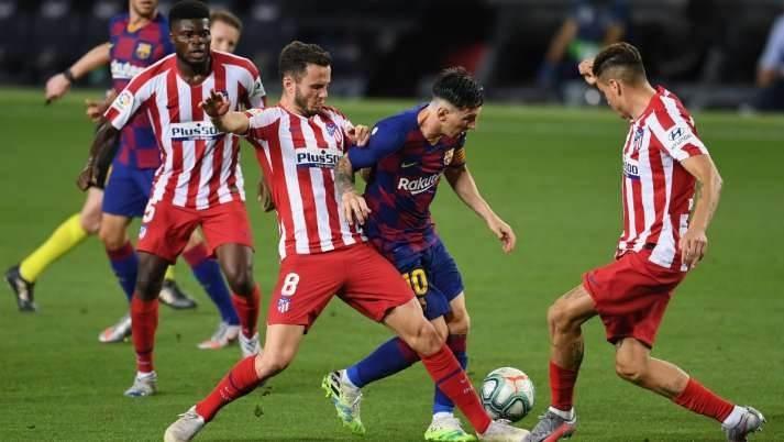 تعادل برشلونة أمام أتلتيكو 2-2
