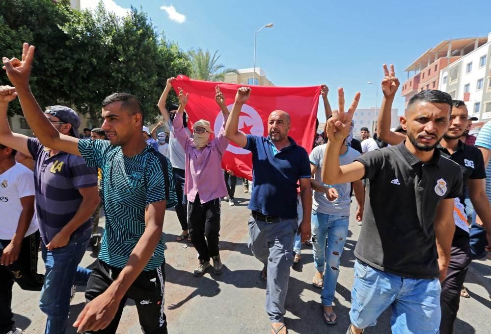 احتجاجات في تونس (أ ف ب - أرشيف)