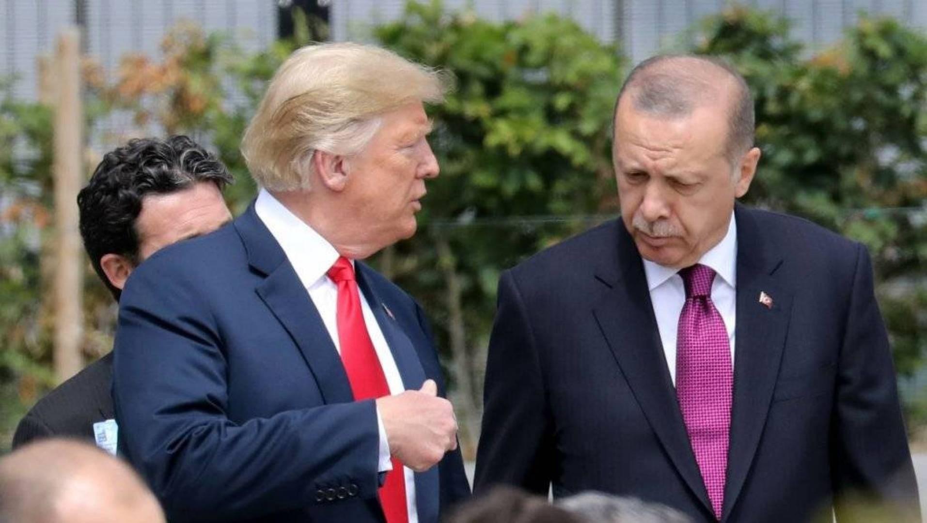 الرئيس الأميركي دونالد ترامب ونظيره التركي رجب طيب إردوغان (أرشيف)