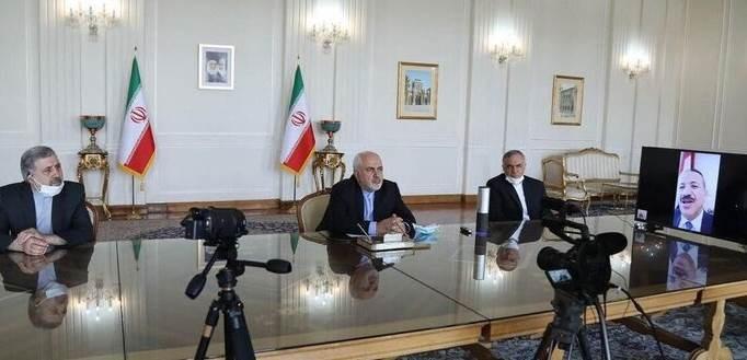 ظريف وشرف يؤكدان أهمية تعزيز العلاقات اليمنية - الإيرانية