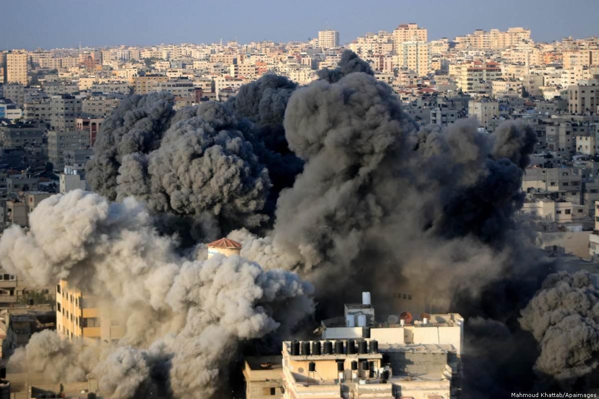 غارات إسرائيلية جوية على مدينة غزة (صورة أرشيفية).
