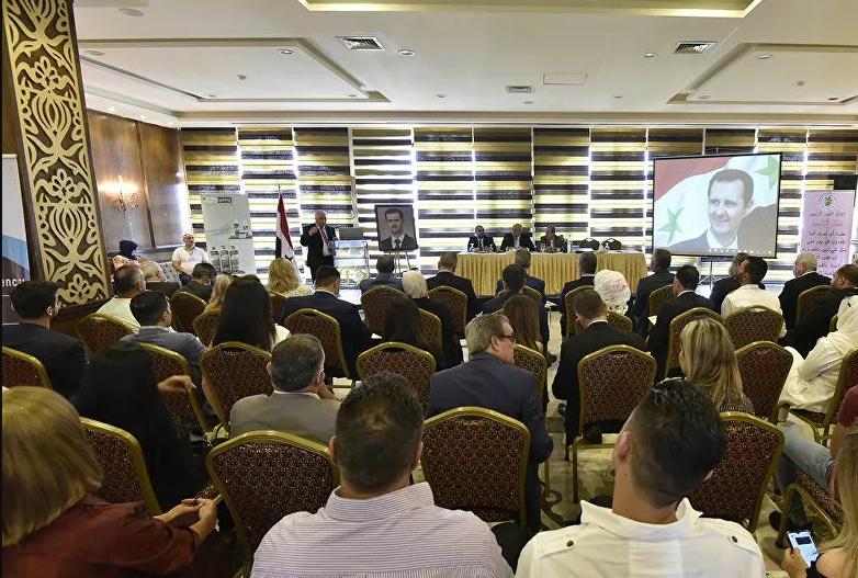 المؤتمر الأول لرجال أعمال وسيدات المجتمع السوري الذي تقيمه رابطة خريجي العلوم السياسية