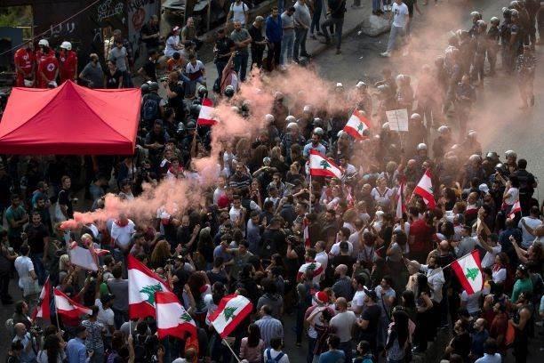 صورة من الاحتجاجات في لبنان