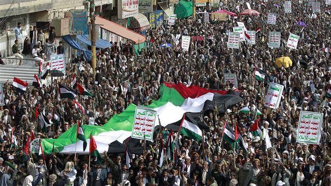 من تظاهرة يمنية دعماً للقضية الفلسطينية
