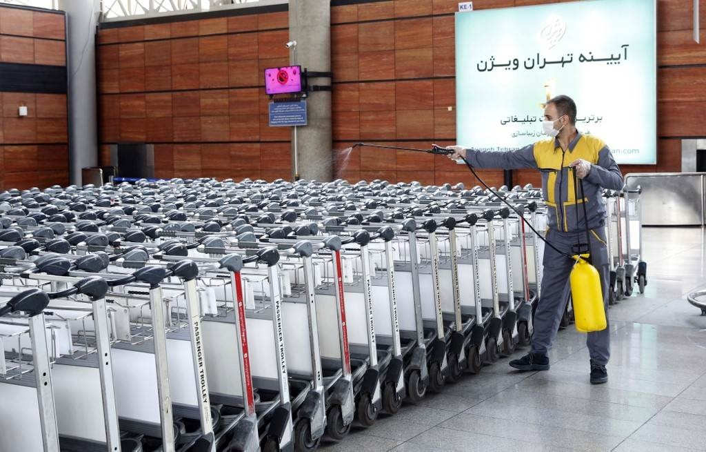مطار الإمام الخميني في العاصمة الإيرانية طهران 17 تموز/ يوليو 2020 (أ ف ب).