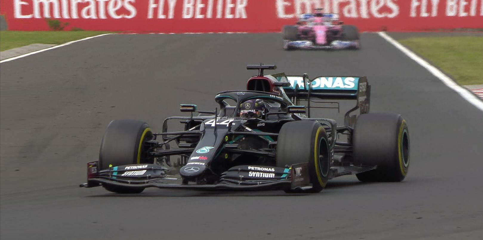هاميلتون في سباق جائزة المجر الكبرى (تويتر)