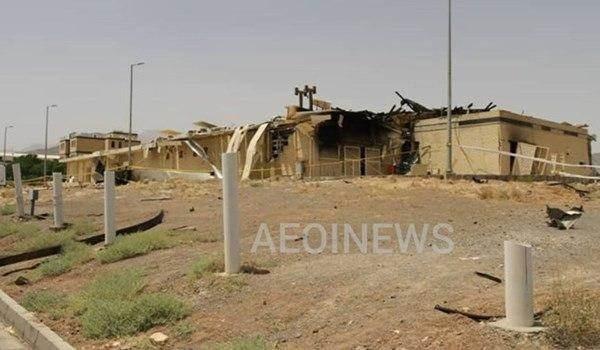 صورة نشرتها مواقع إيرانية للصالة المتضررة في مفاعل نطنز