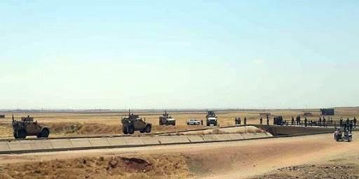 رتل آليات للقوات الأميركية عند جسر الدردارة بريف الحسكة الشمالي