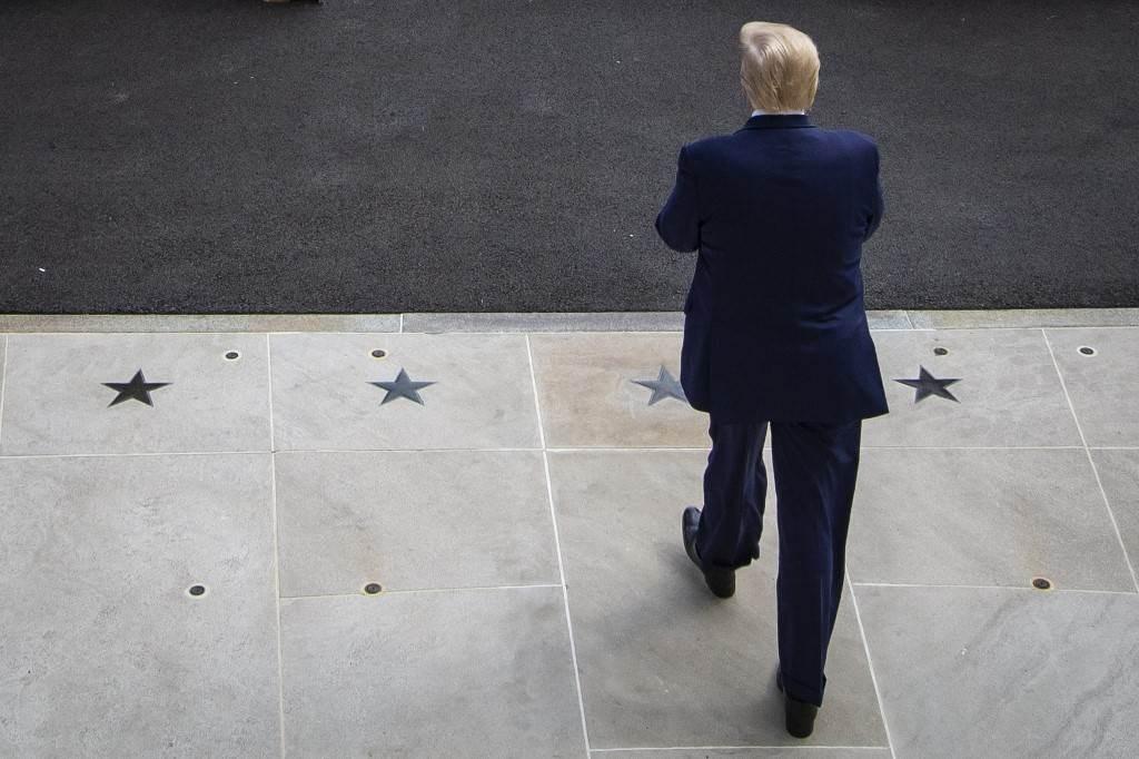 ترامب في البيت الأبيض يوم 16 تموز/يوليو الجاري (أ.ف.ب)
