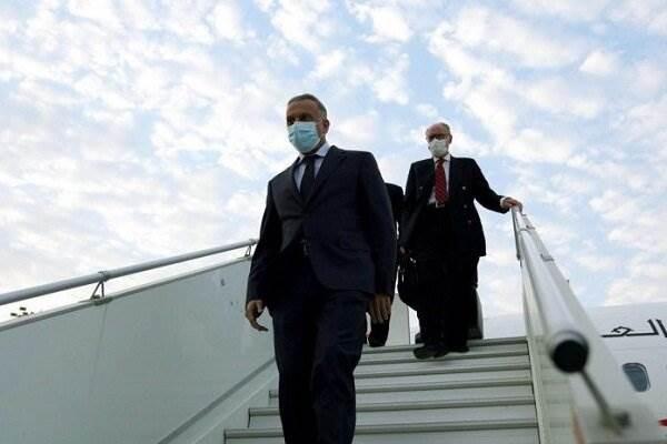 وصول رئيس الوزراء العراقي مصطفى الكاظمي إلى طهران